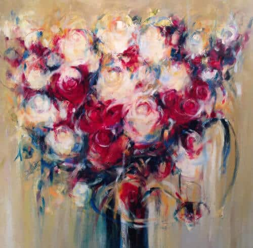 Carole Arnstong Bouquet Of Flowers 40x40