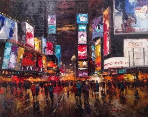 Eugenio Cohaila Time Square 24x36