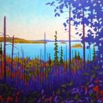John Lennard Lake Through the Trees