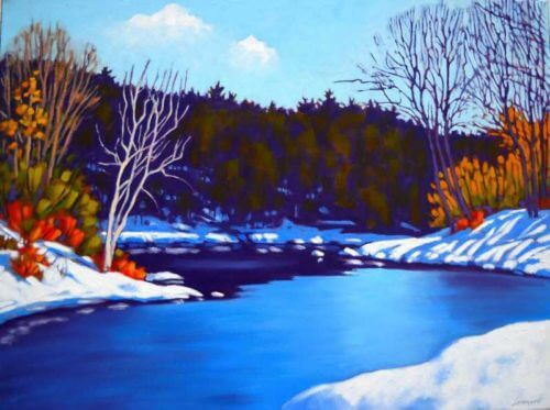 John Lennard Winter River 18x24