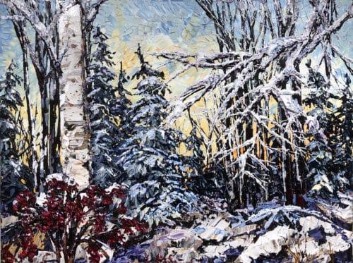 Maya Eventov Winter Birch 30x40