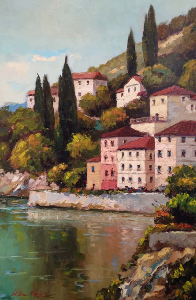 William Rengifo Village on Hillside 30x24