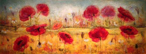 anya Kirouac Poppies 18x48