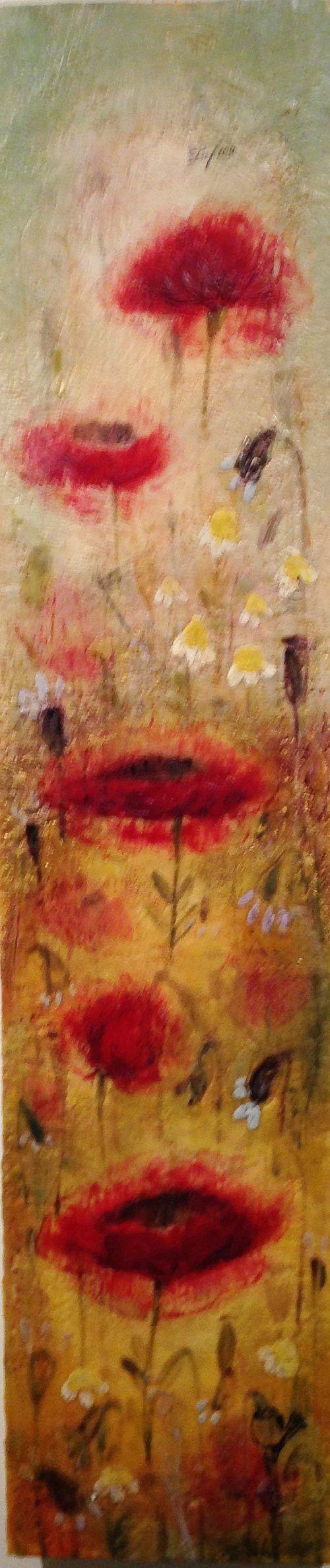 Tanya Kirouac Tall Poppies 36x8