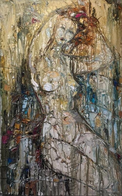 Maya Eventov Abstract 2 Nude 40x30