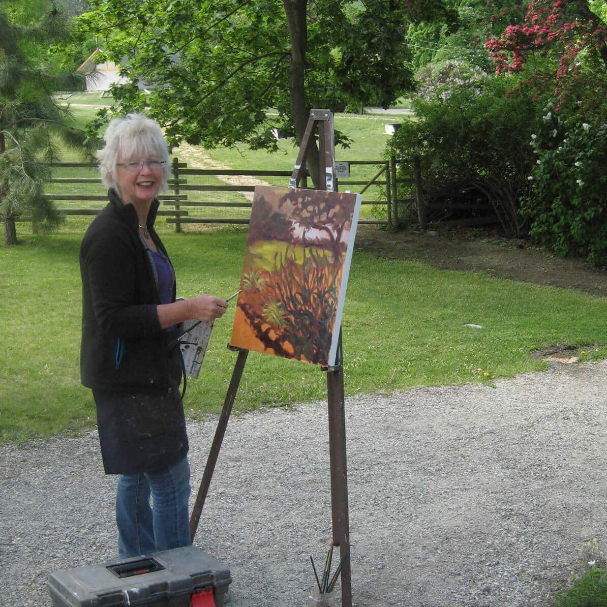 Ann Willsie Photo Plein Air Painting 2