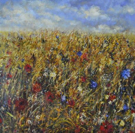 Fiona Hoop Field of Wildflowers 40x40