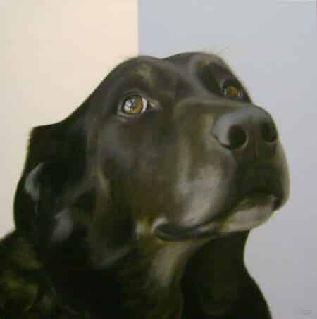 Gretta Gibney In the Ruff-Hopeful Giclee 30x30