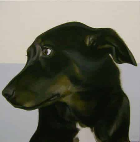 Gretta Gibney In the Ruff-Whistful Giclee 30x30