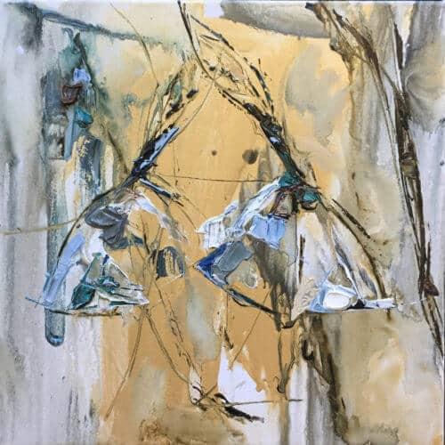 Maya Eventov Abstract Dancers 18x18