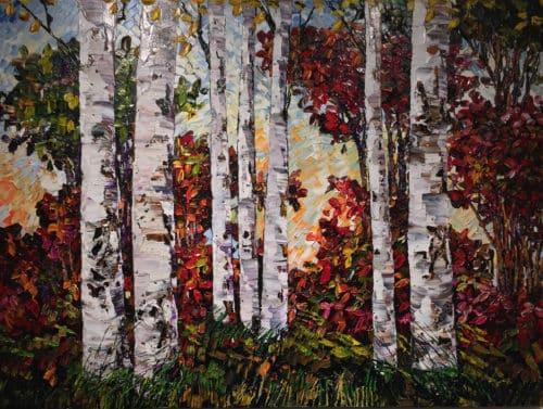 Maya Eventov Birch at Forest Edge 36x48