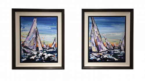 Maya Eventov Sailing Pair 20x16 FRAMED