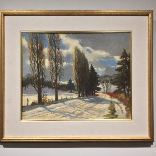 Frank Panabaker Ontario Snowy Road 16x20 Framed
