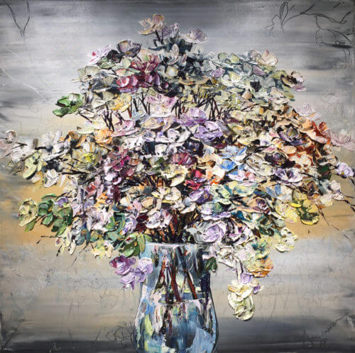 Maya Eventov Floral Gray Vase 40x40