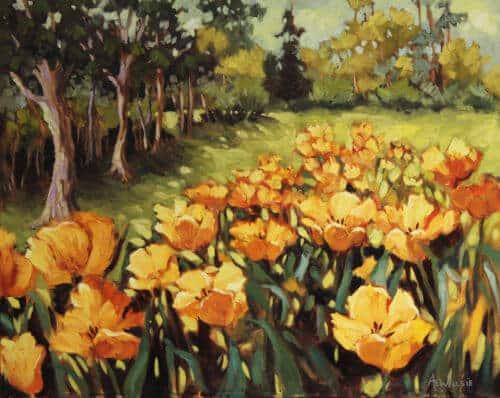 Ann Willsie Orange Tulips 24x30