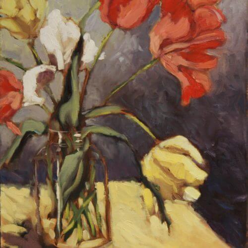 Ann Willsie Tulips Still Life 20x16