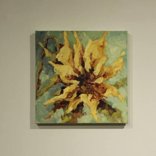 Ann Willsie Yellow on Blue Beek 16X16 D1