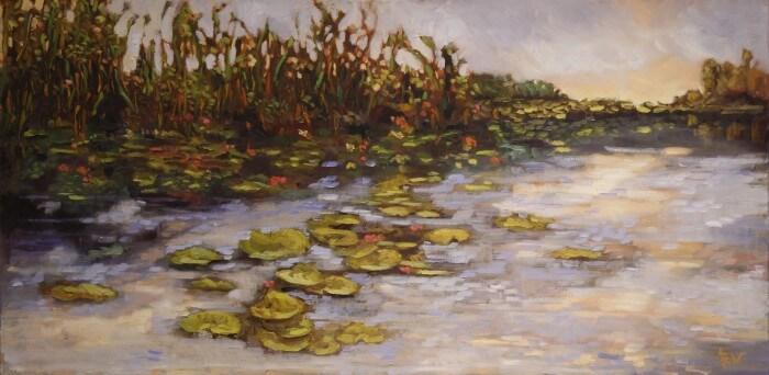 Ann Willsie Lilly Pond 24X48