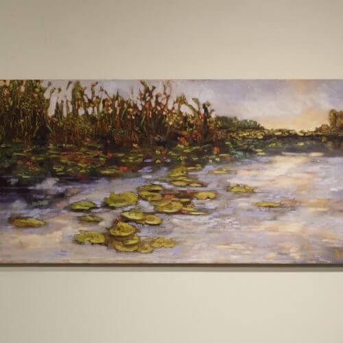Ann Willsie Lilly Pond 24X48 D1