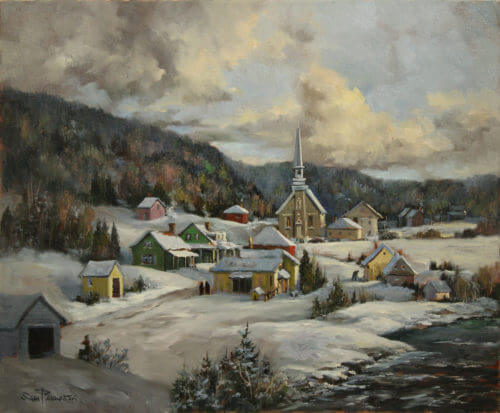Sam Paonessa Winter In The Saguenay 20X24