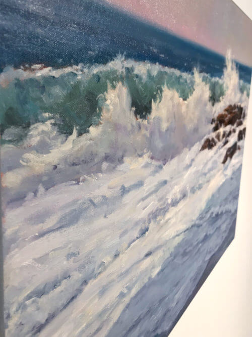 Robert Amirault Surf Shadows 18X24 Detail 2