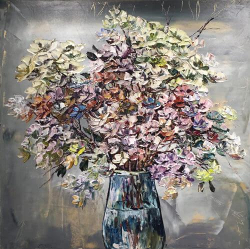 Maya Eventov Floral Gray Vase 2 40×40