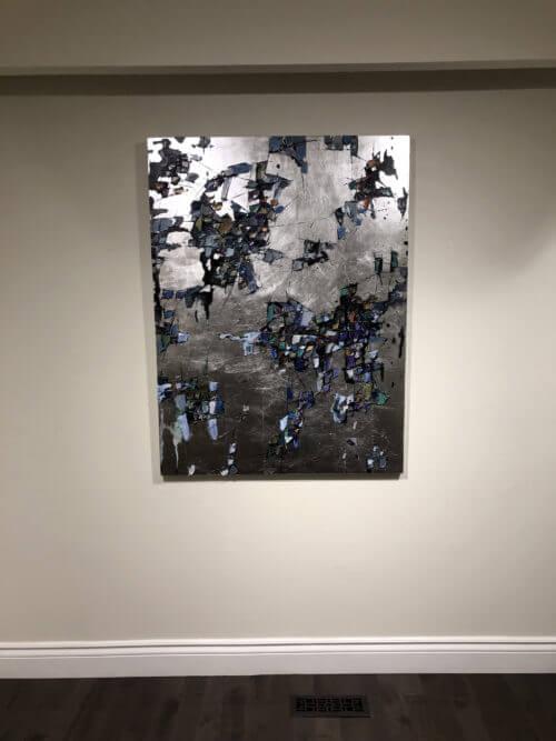 Maya Eventov Silver Abstract 48x36 Detail 1