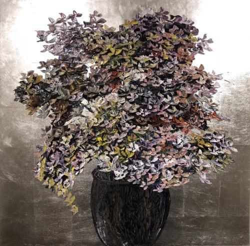 Maya Eventov Silver Floral 36x36