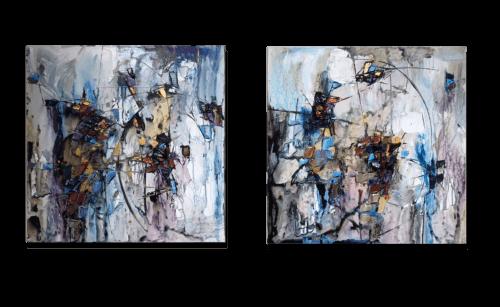 Maya Eventov Abstract Pair 30x30