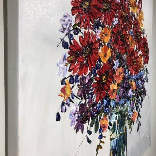Maya Eventov Cut Flowers IV 36×36 Detail 1