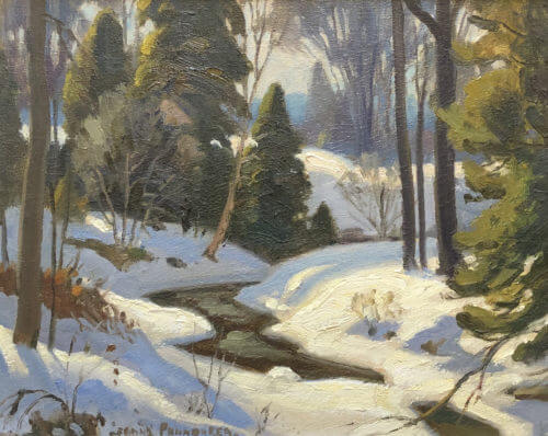 Frank Panabaker March Near Creemore 12x15
