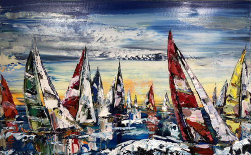 Maya Eventov Sailing Boats 30x48