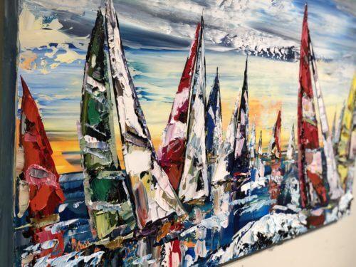 Maya Eventov Sailing Boats 30x48 Detail 1