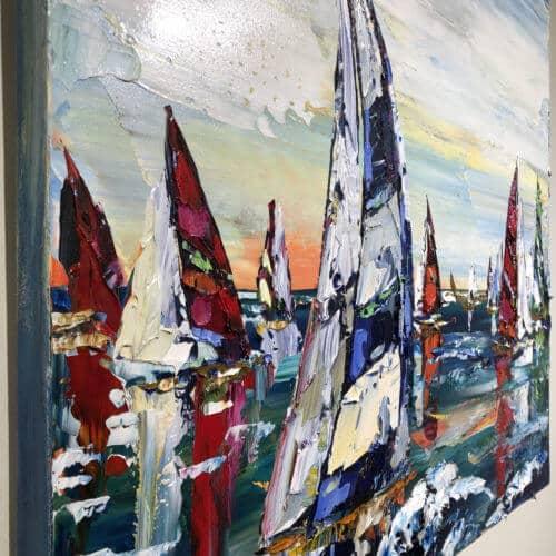 Maya Eventov Sailing Boats 36x36 Detail 1