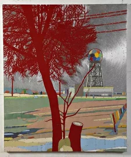 Dave Hind Microwave Rainbow Stump 60x52
