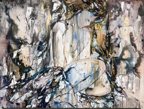 Maya Eventov Abstract Nude Reclining 36x48