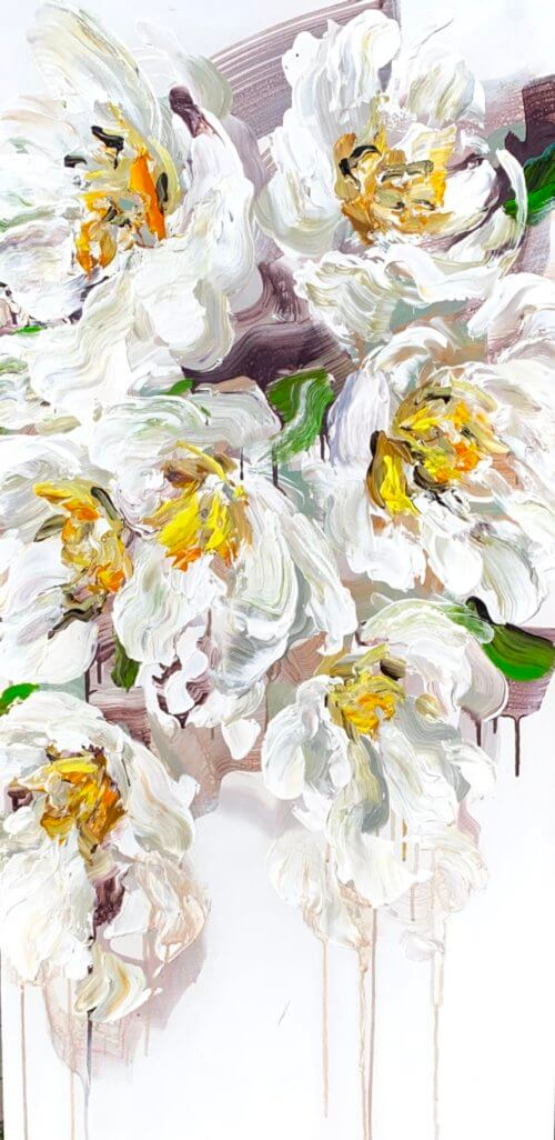 Elena Henderson Blooming Paradise series 1 48x24