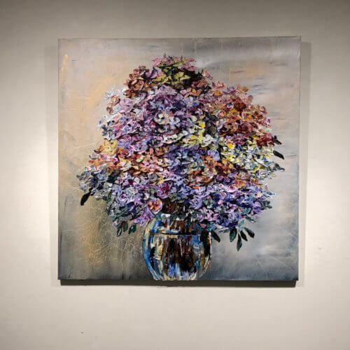 Maya Eventov Floral Hydrangea 40x40 Detail 1