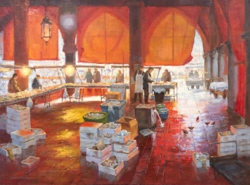 Robert Amirault Venice Fish Market 30x40