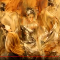 Anna Razumovskaya Video work in progress painting