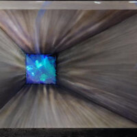 Red Wolf Blue Green Hologram 34x47